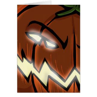 An Evil Pumpkin Card