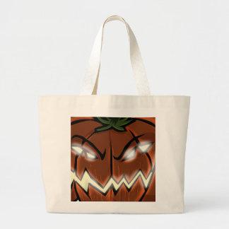 An Evil Pumpkin Large Tote Bag
