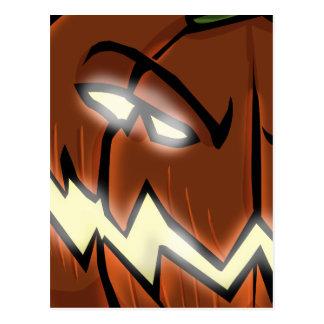 An Evil Pumpkin Postcard