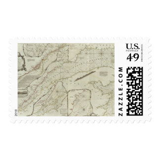 An exact chart of the River St Laurence Postage