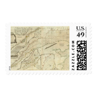 An Exact Chart of the River St Lawrence Postage Stamp