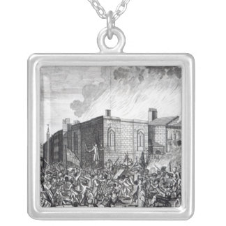 An exact representation of the Burning Silver Plated Necklace