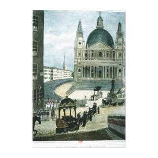An exact representation of the grand funeral car canvas print