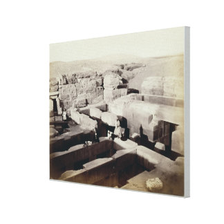 An Excavated Temple at the foot of the Sphinx, 4th Stretched Canvas Prints
