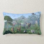 An exotic wild animal scene American MoJo Pillow Throw Pillows