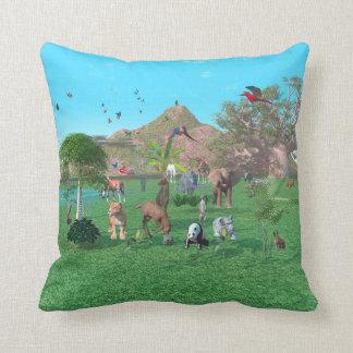 An exotic wild animal scene American MoJo Pillow