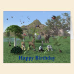 An exotic wild animal scene card
