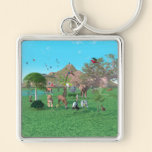 An exotic wild animal scene Keychain