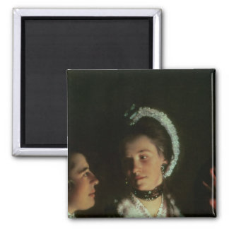 An Experiment on a Bird in the Air Pump, 1768 2 Inch Square Magnet