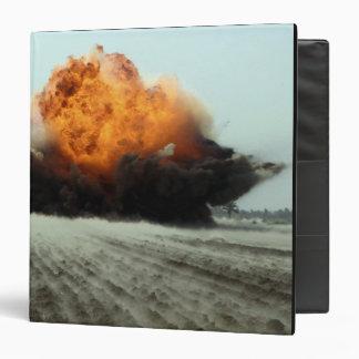An explosion erupts binder