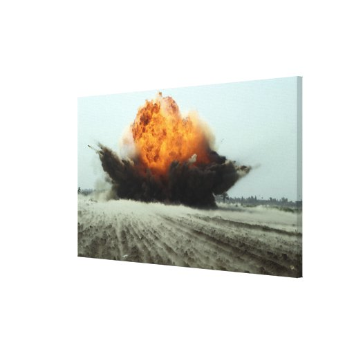 An explosion erupts gallery wrap canvas