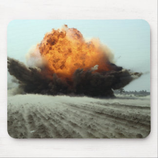 An explosion erupts mouse pad