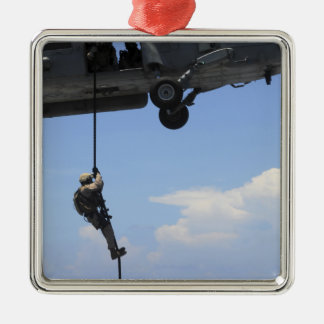 An explosive ordinance disposal technician square metal christmas ornament