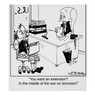 An extension during the war on terror? poster