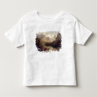 An Extensive Alpine Lake Landscape, 1862 (oil on c Toddler T-shirt
