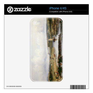 An Extensive River Landscape with a View of the Ch iPhone 4S Decal