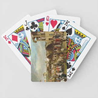 An Extensive View of the Oxford Races (oil on canv Bicycle Playing Cards
