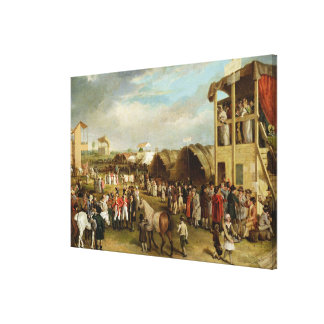 An Extensive View of the Oxford Races (oil on canv Canvas Print