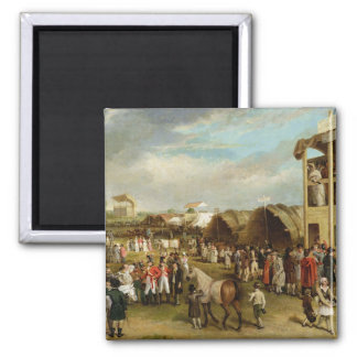 An Extensive View of the Oxford Races (oil on canv Magnet