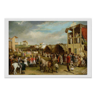 An Extensive View of the Oxford Races (oil on canv Poster
