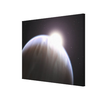 An extrasolar planet with its parent star canvas print