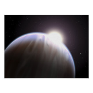 An extrasolar planet with its parent star poster