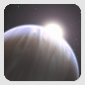 An extrasolar planet with its parent star sticker