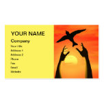 An eye catching card with a message of freedom business card templates