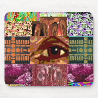 AN EYE for Art : Elegant Miniature Art Collage Mouse Pad
