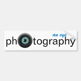 An Eye for Photography Camera Lens Bumper Sticker