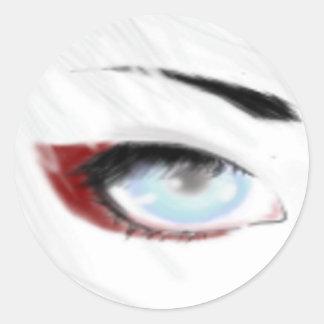 An Eye Sticker, Blue Classic Round Sticker