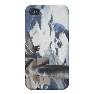 An F-15C Eagle aircraft sits behind a KC-135R Case For iPhone 4