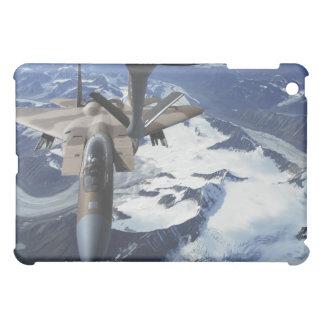 An F-15C Eagle aircraft sits behind a KC-135R iPad Mini Covers