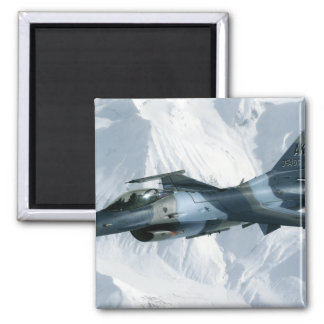 An F-16 Aggressor 2 Inch Square Magnet