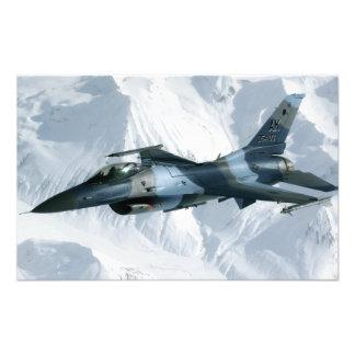 An F-16 Aggressor Photographic Print