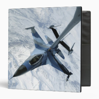 An F-16 Aggressor sits in contact position 3 Ring Binder