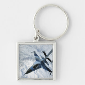 An F-16 Aggressor sits in contact position Keychain