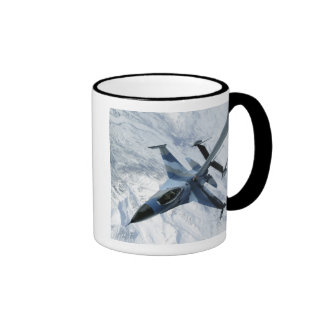 An F-16 Aggressor sits in contact position Ringer Coffee Mug