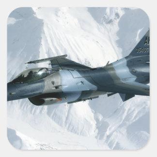An F-16 Aggressor Square Sticker