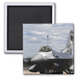 An F-16 Fighting Falcon 2 Inch Square Magnet