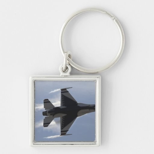 An F-16 Fighting Falcon pulls high G's Key Chains