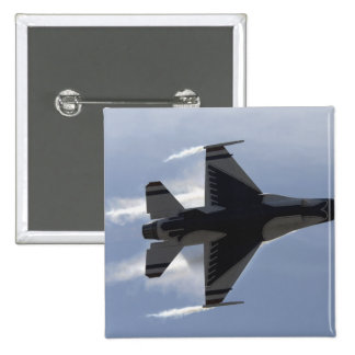An F-16 Fighting Falcon pulls high G's Pinback Button