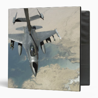 An F-16 Fighting Falcon refuels Binder