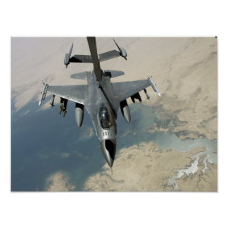 An F-16 Fighting Falcon refuels Posters