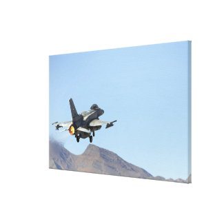 An F-16E from the United Arab Emirates Canvas Print