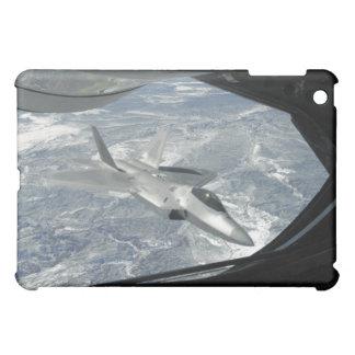 An F-22 Raptor banks away from a KC-135 iPad Mini Case