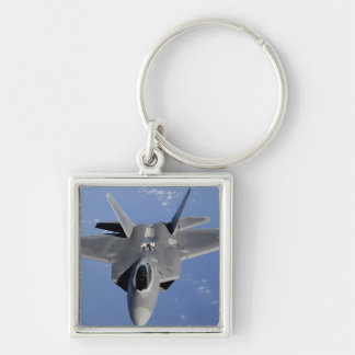 An F-22 Raptor moves into position to receive f 2 Keychains