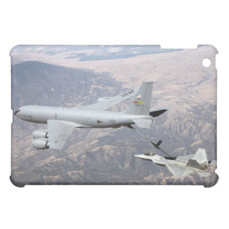 An F-22 Raptor receives fuel from a KC-135 iPad Mini Cover