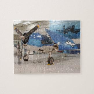 An F-6F Hellcat World War II fighter plane at Jigsaw Puzzle