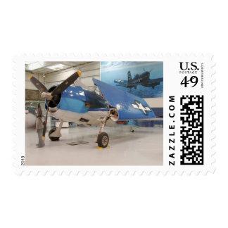 An F-6F Hellcat World War II fighter plane at Postage